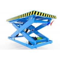 5 - 8m/H Three Electric Lift Table Stationary Hydraulic Scissor Table For Factory