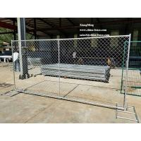 China Chain Link Panel with privacy screen, galvanized, USA market on sale