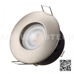 Quality Aluminium GU10 MR16 Push Lock IP65 Bathroom Downlight Fittings - Satin Nickel Color for sale