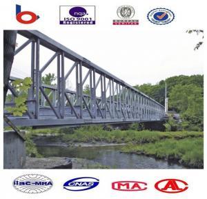 7.35m Double Lane Assembly Steel Bridges Commercial With Concrete Deck Manufactures