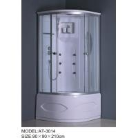 Tempered glass material quadrant shower cubicles and trays 2 holes Handles Manufactures
