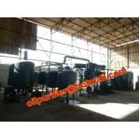 used engine oil recycling machine ,black car oil vacuum distillation system, no need clay Manufactures