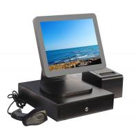 Aluminium Alloy Point Of Sale Touch Screen Computer With Thermal Printer And Cash Drawer Manufactures