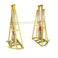 5 - 10 Ton Hydraulic Adjustable Wire Reel Jack Stands / Wire Pay Off Stand Manufactures