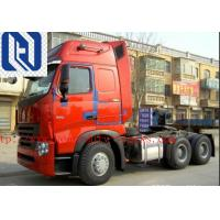 China 40 Ton Prime Mover Truck , Howo A7 Cabin Sinotruk 420hp 6x4 Tractor Head Truck for sale
