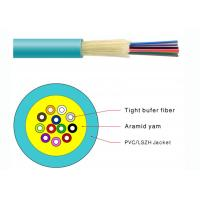 Durable Tight Buffer Distribution Fiber Optic Cable Flame Retardant PVC Jacketed