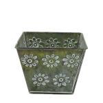 antiqued metal flower pot bucket for garden decoration Manufactures