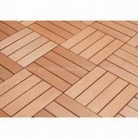 Wood plastic Composite DIY Decking Tiles with Waterproof Design, Insect-resistant Manufactures