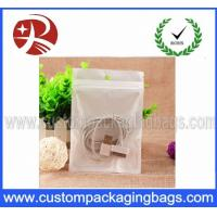 BOPP Data Cable Plastic Ziplock Bags Pearlized With Euro Slot Manufactures