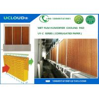 Brown color Greenhouse/poultry house/ industrial workshop evaporative cooling pad for sale