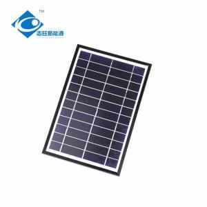 6V 6W Aluminum frame portable solar panel for mini solar charger ZW-6W-6V home power solar system Manufactures