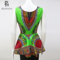 Stylish African Inspired Print Jumpsuits Dresses Anti - Wrinkle Wax Printed Manufactures