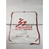 Two Layer CPE / LDPE Plastic Drawstring Backpack Bags With Logo Manufactures