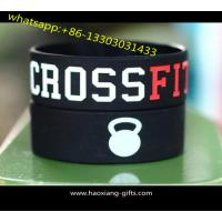 Quality Cheap promotion1inch custom silicone bracelets/wristband debossed logo for sale
