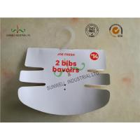 China Baby Clothing Hang Tags 350G Paper Hanger Card With 2 Color Printing on sale