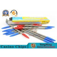 157g Baccarat Gambling Systems Roulette Texas Hold 'Em Casino Game Dedicated Red And Blue Two Color Record Pen Manufactures