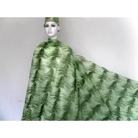 Sequins Wedding Net Lace Fabric , Green French Lace Fabric Manufactures