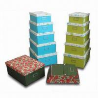 Woven Paper Storage Box in Fashionable Design, Customized Designs and Shapes are Accepted Manufactures