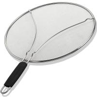"""13"""" Grease Splatter Screen for Cooking with Heavy Duty Ultra Fine Mesh Plus Silicone Hot Handle Holder Manufactures"""