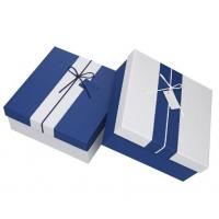 China Rectangle shape logo customized paperboard storage box for different gift with Ribbon on sale