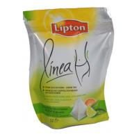Graceful Curved Lipton PET / VMPET / PE Tea Packaging Bags Stand Up Manufactures