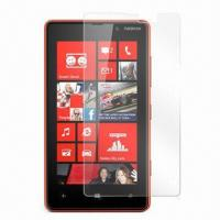 Crystal Clear Screen Protector, Suitable for Nokia Lumia 820, Made of PET, Easy to Install Manufactures