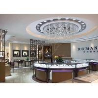 Commercial Display Cases / Jewellery Showroom Furniture Decorated With LED Lights Manufactures