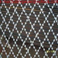 150mm x 300mm razor wire mesh/razor welded wire mesh AHS-495 High quality 8years/Razor Barbed Welded Wire Mesh Manufactures