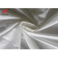 White Colour Breathable Sports Mesh Fabric For Track Suit Polyester Mesh Fabric Manufactures