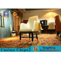 Korean Style Double Back Custom Casino Gaming Chairs  For Club Easy To Carry Manufactures