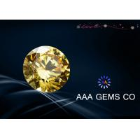 Round Shape Yellow 4 MM Moissanite Diamonds For Ring , Nacklace