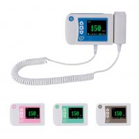 Quality Three color available digital fetal doppler ultrasound equipment baby heart rate monitor for sale