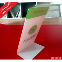 Printing Logo Company Publicity Acrylic Display Stands For Desktop Manufactures