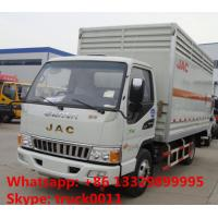 JAC brand 4*2 LHD 5 ton inflammable gas cylinders transport truck for sale Manufactures