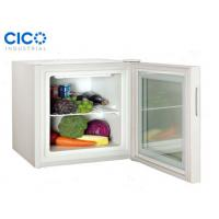White Electric Glass Front Mini Fridge / Small Clear Front Refrigerator Manufactures