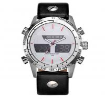 fashion Men Leather Strap Analog Digital Dual Display Men Watches Waterproof Outdoor Watch Manufactures