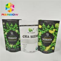 Laminated Material Stand Up Pouch Bags Moringa Leaf Powder Packaging With Zipper Manufactures