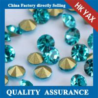 china factory point back glass rhinestones,glass rhinestones point back,pointback glass stone Manufactures