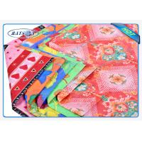 Fashion Embossed Pattern 3 Colors Printed White PP Spunbond Fabric Roll Manufactures