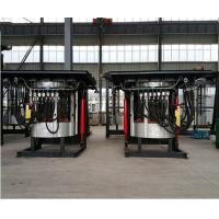 China 1400KW Steel Shell Hydraulic Tilting Type Medium Frequency Electrical Smelting Induction Furnace on sale
