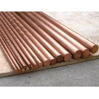 Flat Round Solid Copper Bars Raw Material , Solid Copper Rod Polished Surface Manufactures