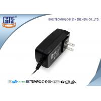 Black US Style AC To DC Power Adapter , 3D Printer 12 Volt AC DC Adapter Manufactures