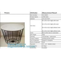 Glass top metal wire rose gold round coffee table, Outdoor Furniture Commercial