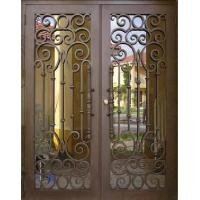 China Wrought iron entrance door on sale