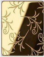 Etched Golden Stainless Steel Sheet Manufactures