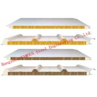950mm Width Fire Resistant Mineral Wool Sandwich Wall Panels Durability and Long Life Time Manufactures
