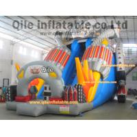 Buy cheap Big transformers slide inflatable aqua robot slide with safe baffle from wholesalers