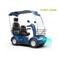 Handicapped Electric Mobility Scooter 48V 20Ah Double Seats 130Kgs Steel Manufactures
