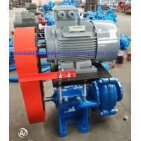 China 3 / 2 C Ahr Rubber Lined Slurry Pumps Siemens Electric Motor Connected By Belts & Pulleys on sale