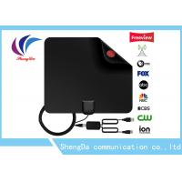China Flat Indoor Digital TV Antenna , UHF / VHF High Definition TV Antenna With Amplifier on sale
